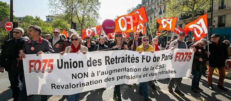 FO appelle à un rassemblement contre la réforme des retraites