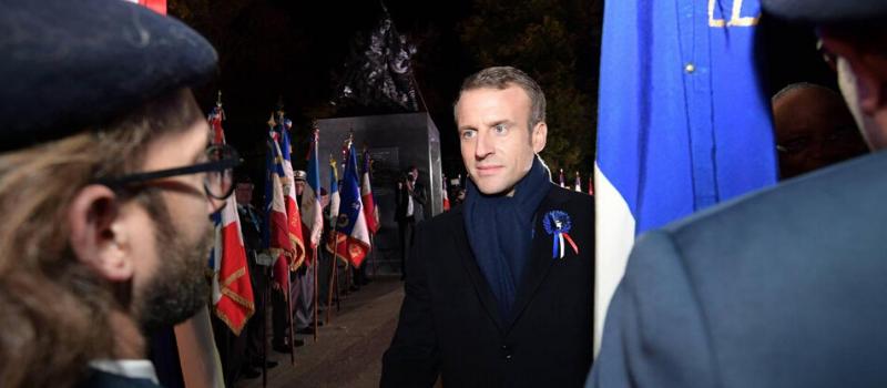 Emmanuel Macron au mémorial national des deux batailles de la Marne @ Mémorial national des deux batailles de la Marne | Dormans | Grand Est | France
