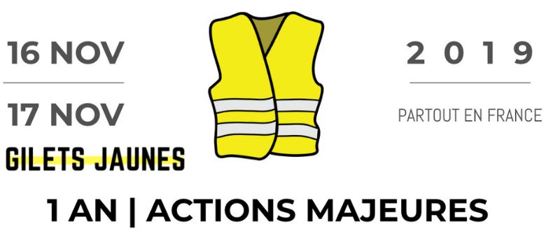 Gilets jaunes : premier anniversaire du mouvement @ France | France