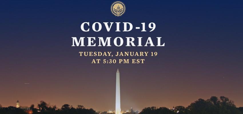 Cérémonie américaine en hommage des victimes du Covid-19 @ Lincoln Memorial Reflecting Pool | Washington | District of Columbia | États-Unis