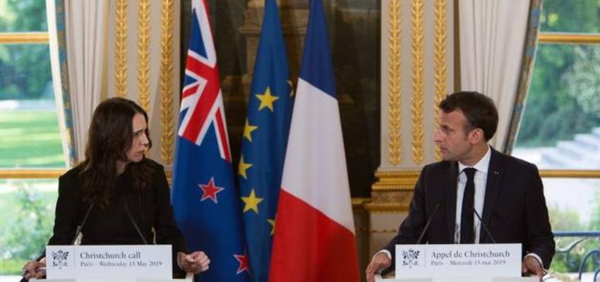 La Nouvelle-Zélande et la France co-président le sommet des leaders de l'Appel de Christchurch. @ Virtuel