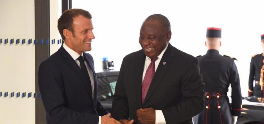 Visite d'Emmanuel Macron en Afrique du Sud @ Afrique du Sud | Pretoria | Gauteng | Afrique du Sud