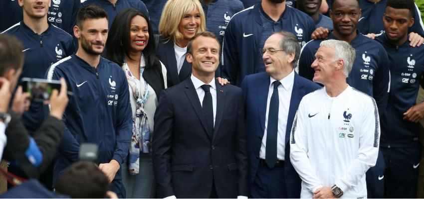 Emmanuel Macron chez les Bleus à Clairefontaine @ Centre national de Clairefontaines | Clairefontaine-en-Yvelines | Île-de-France | France