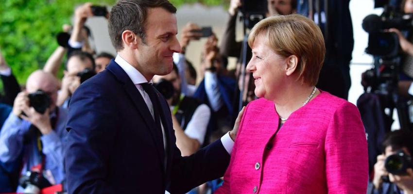 Emmanuel Macron reçoit une dernière fois Angela Merkel à l'Elysée @ Palais de l'Elysée   Paris   Île-de-France   France