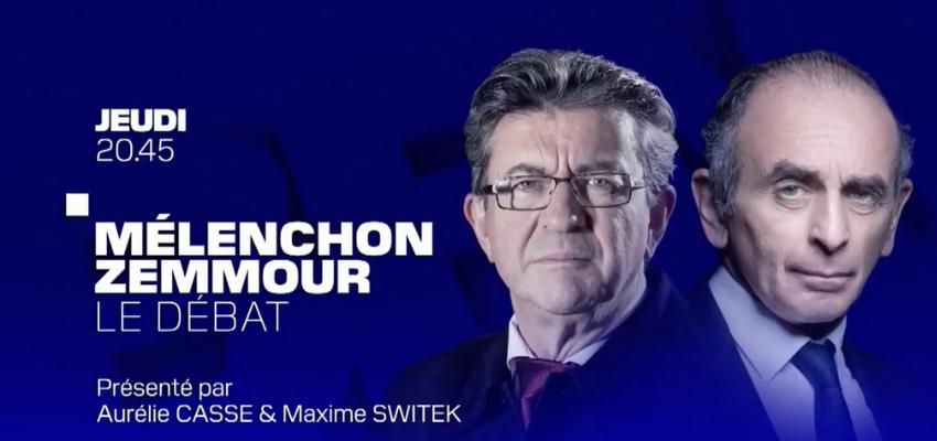 Présidentielle 2022 : Jean Luc Mélenchon face à Eric Zemmour sur BFMTV @ Studios BFMTV | Paris | Île-de-France | France