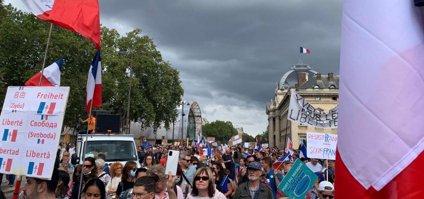 Manifestations contre le Pass sanitaire @ Paris